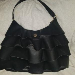 Liz Claiborne ruffled hobo bag